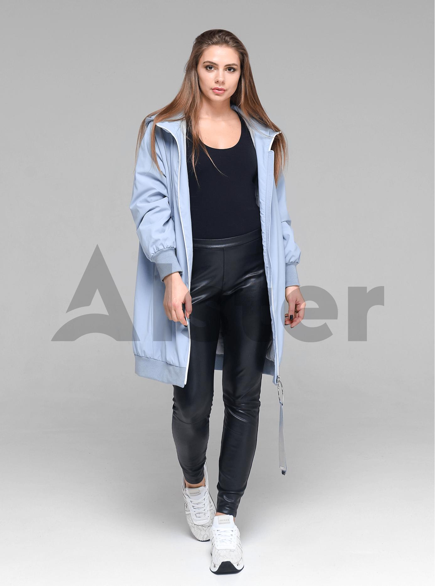 Куртка демисезонная женская с капюшоном Светло-голубой L (02-D190163): фото - Alster.ua