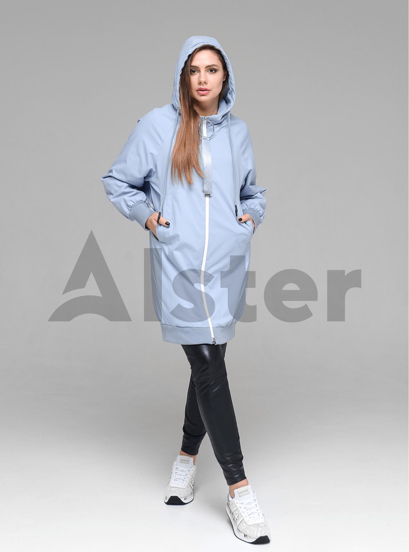 Куртка демисезонная женская с капюшоном Светло-голубой M (02-D190162): фото - Alster.ua