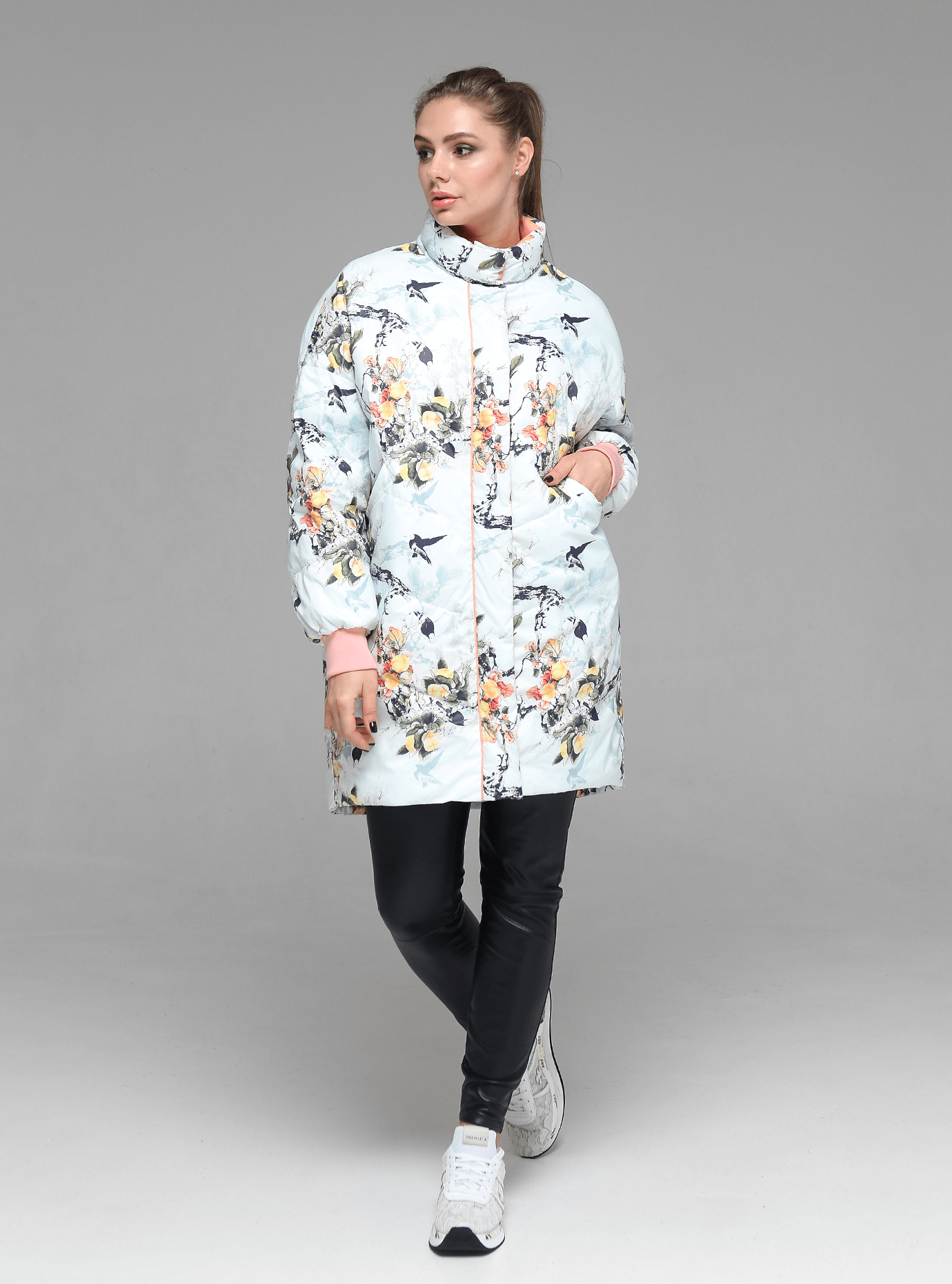 Куртка демисезонная женская Персиковый S (02-D190126): фото - Alster.ua