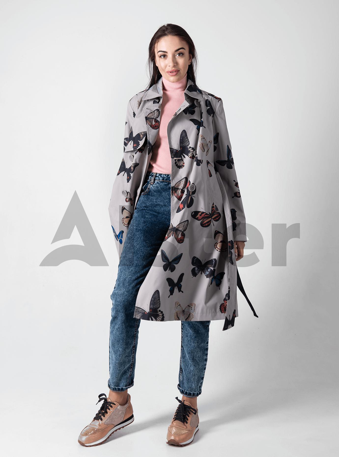 Жіноче пальто демісезонне Світло-сірий S (02-D190173): фото - Alster.ua