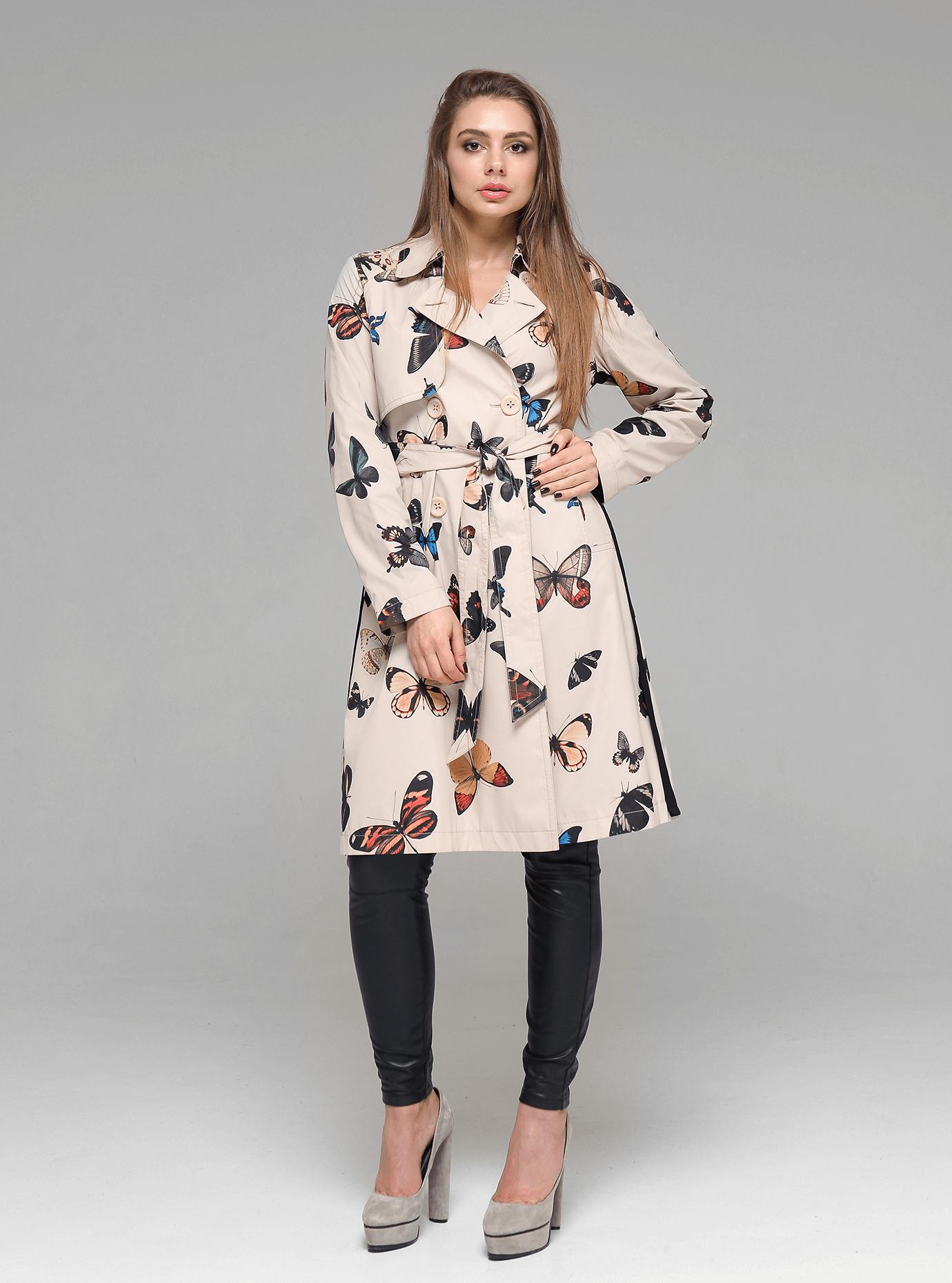 Женское пальто демисезонное Бежевый L (02-D190170): фото - Alster.ua