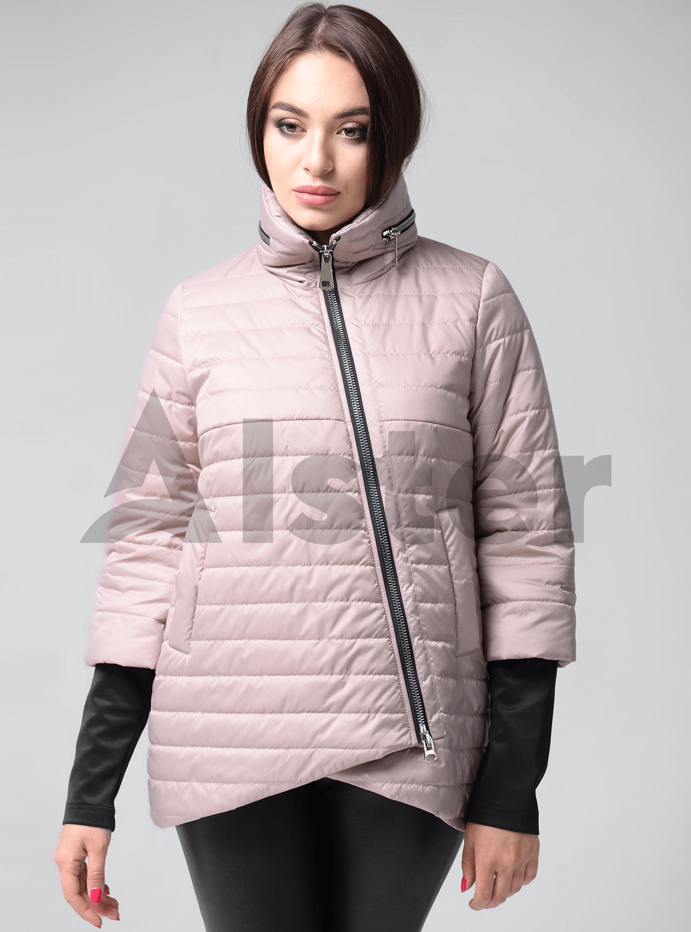 Женская зимняя куртка косой крой Синий 42 (02-KT190540): фото - Alster.ua