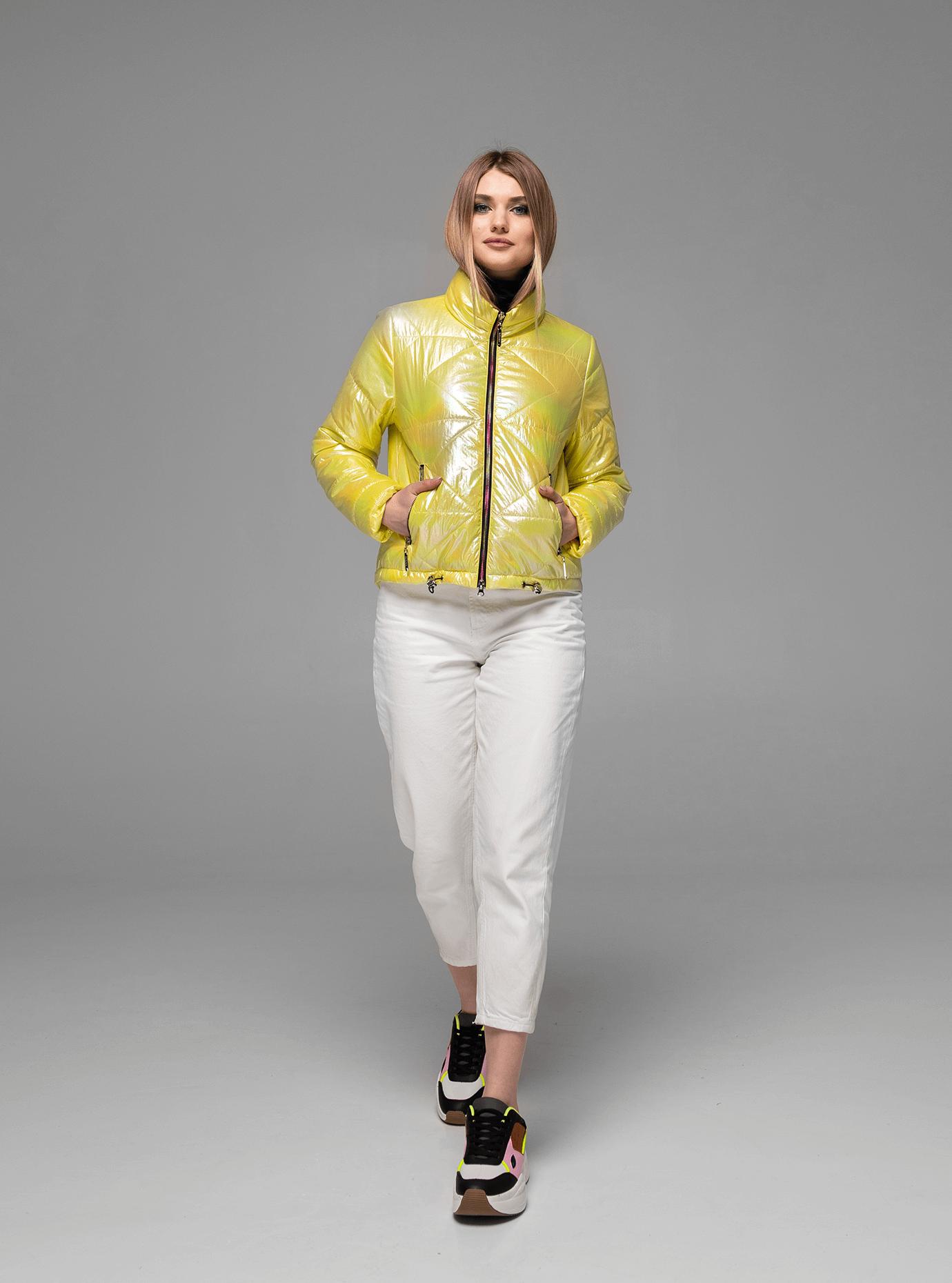 Жіноча демісезонна куртка хамелеон Жовтий 42 (02-KT190065): фото - Alster.ua