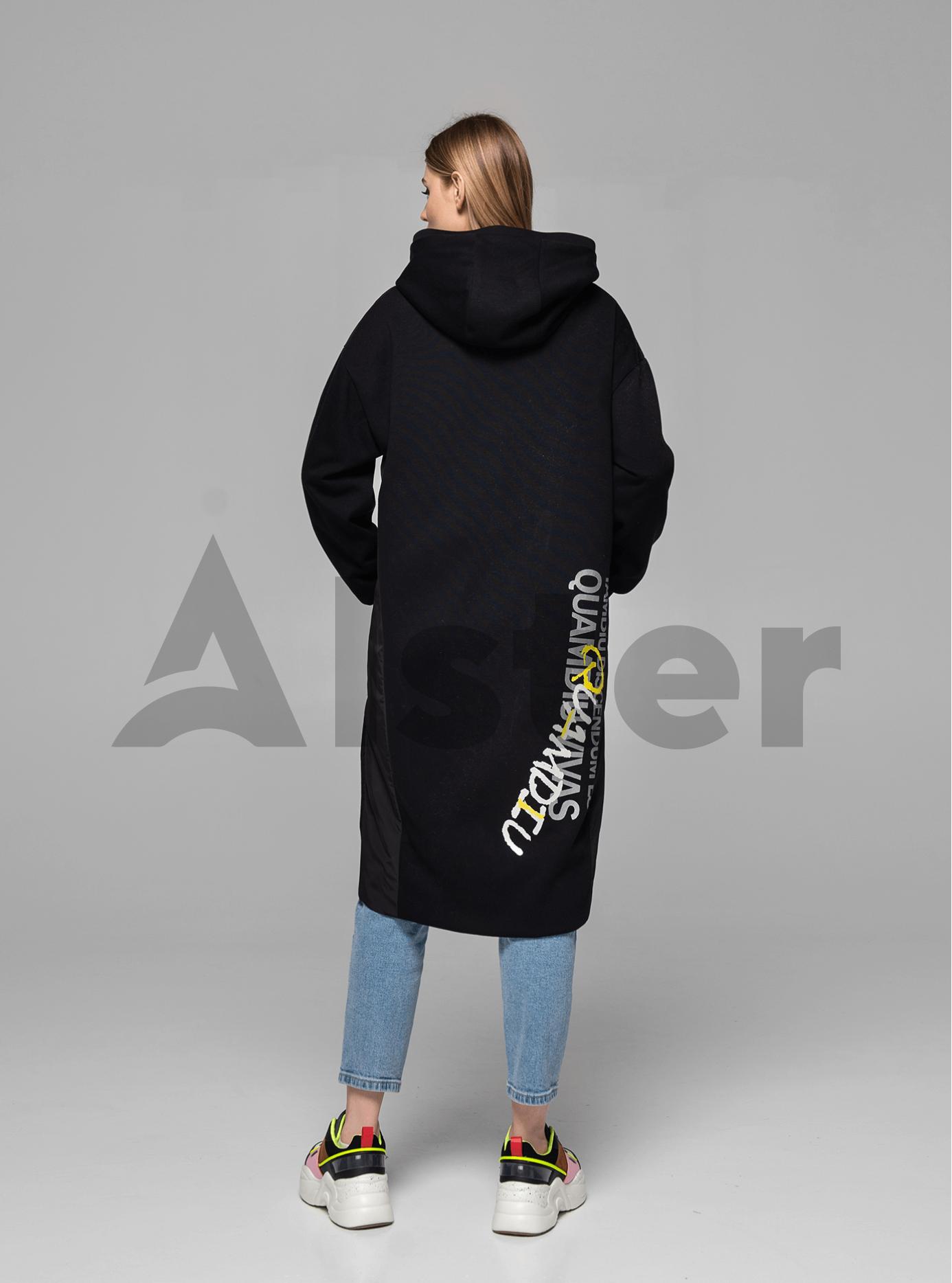 Куртка демисезонная длинная на молнии Чёрный 46 (02-MI19001): фото - Alster.ua
