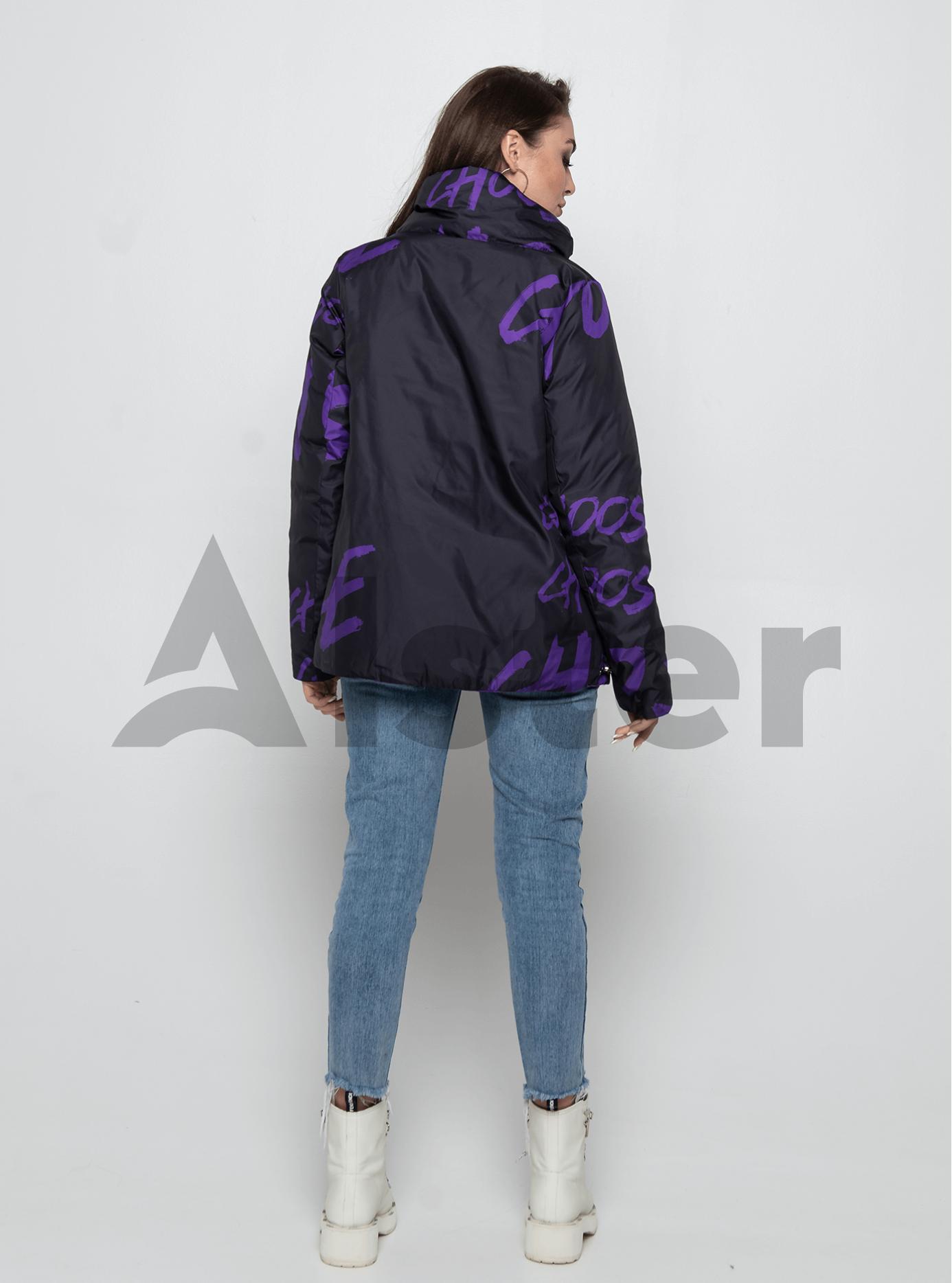 Куртка демисезонная короткая двусторонняя Фиолетовый 46 (02-MI19035): фото - Alster.ua