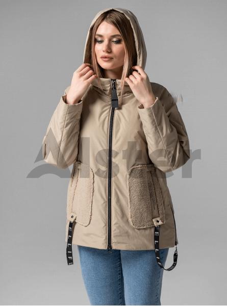 Куртка демисезонная короткая с капюшоном