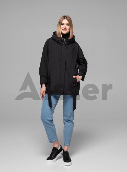 Куртка демисезонная короткая с принтом на спине