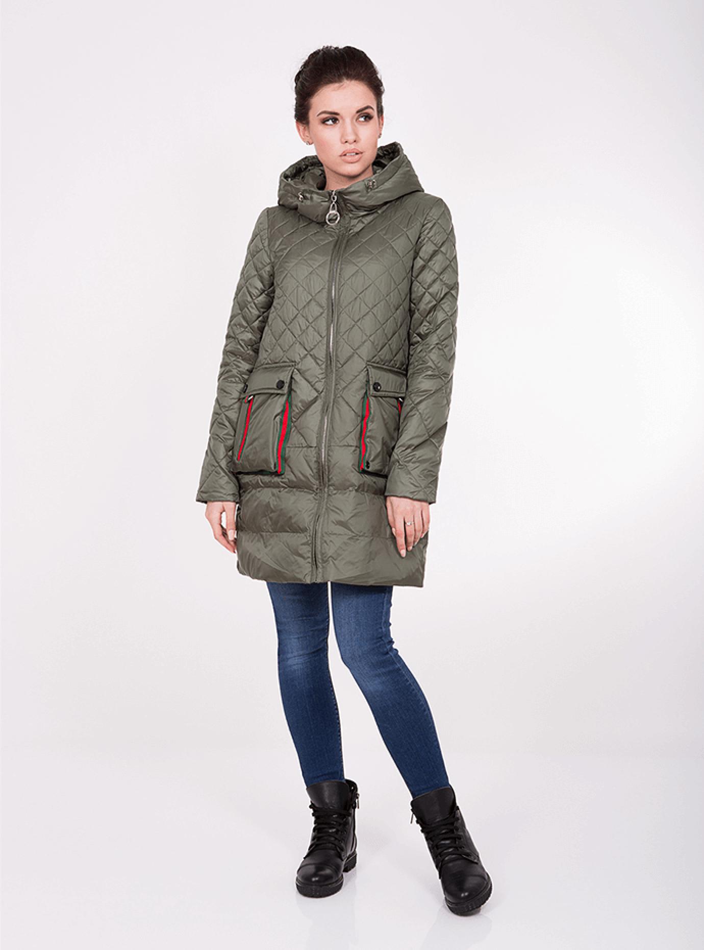 Куртка демисезонная с капюшоном Хаки S (05-ZL2283): фото - Alster.ua