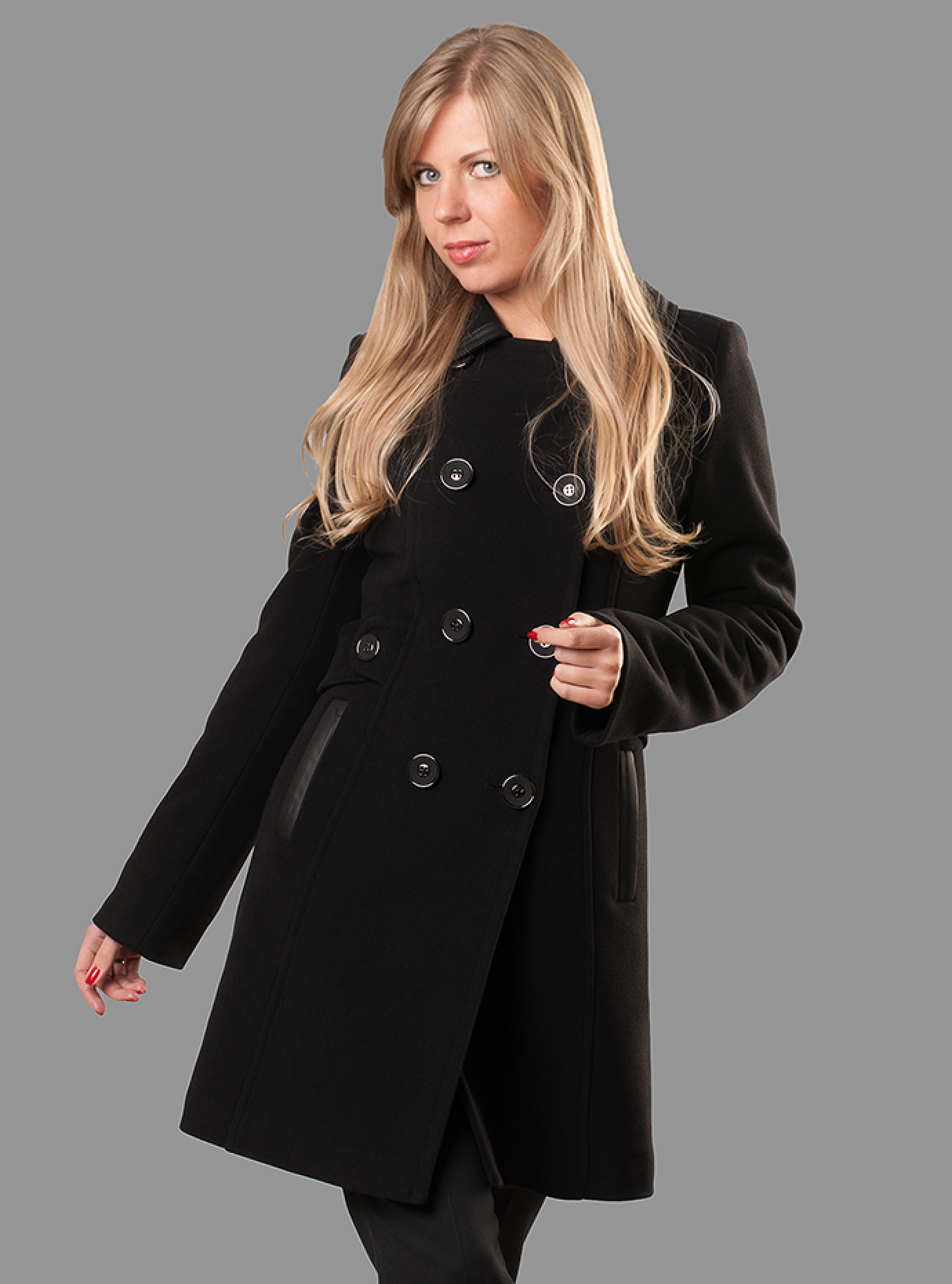 Пальто женское демисезонное Чёрный S (05-ZZ19101): фото - Alster.ua