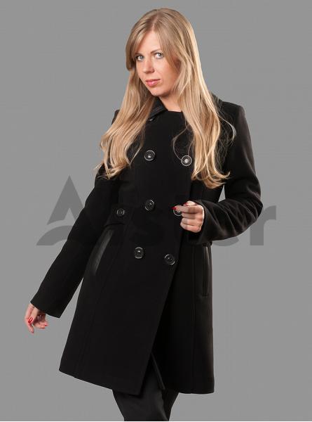 Пальто демисезонное приталенное на пуговицах