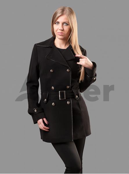 Пальто демисезонное приталенное с поясом
