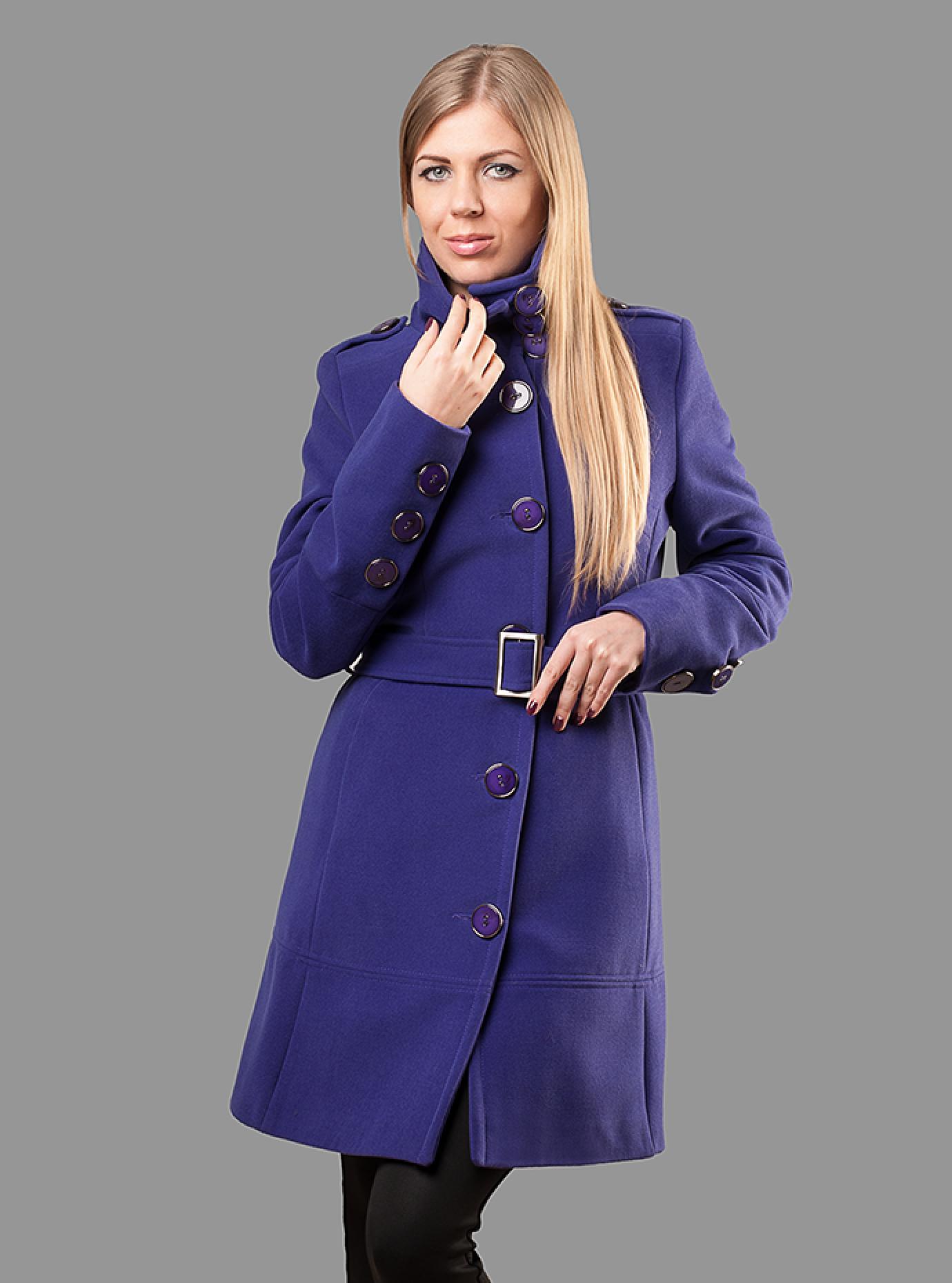 Пальто женское с поясом Чёрный S (05-ZZ19107): фото - Alster.ua