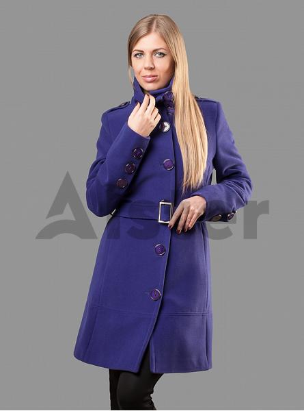Пальто демисезонное на пуговицах с поясом
