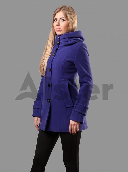 Пальто демисезонное приталенное с капюшоном