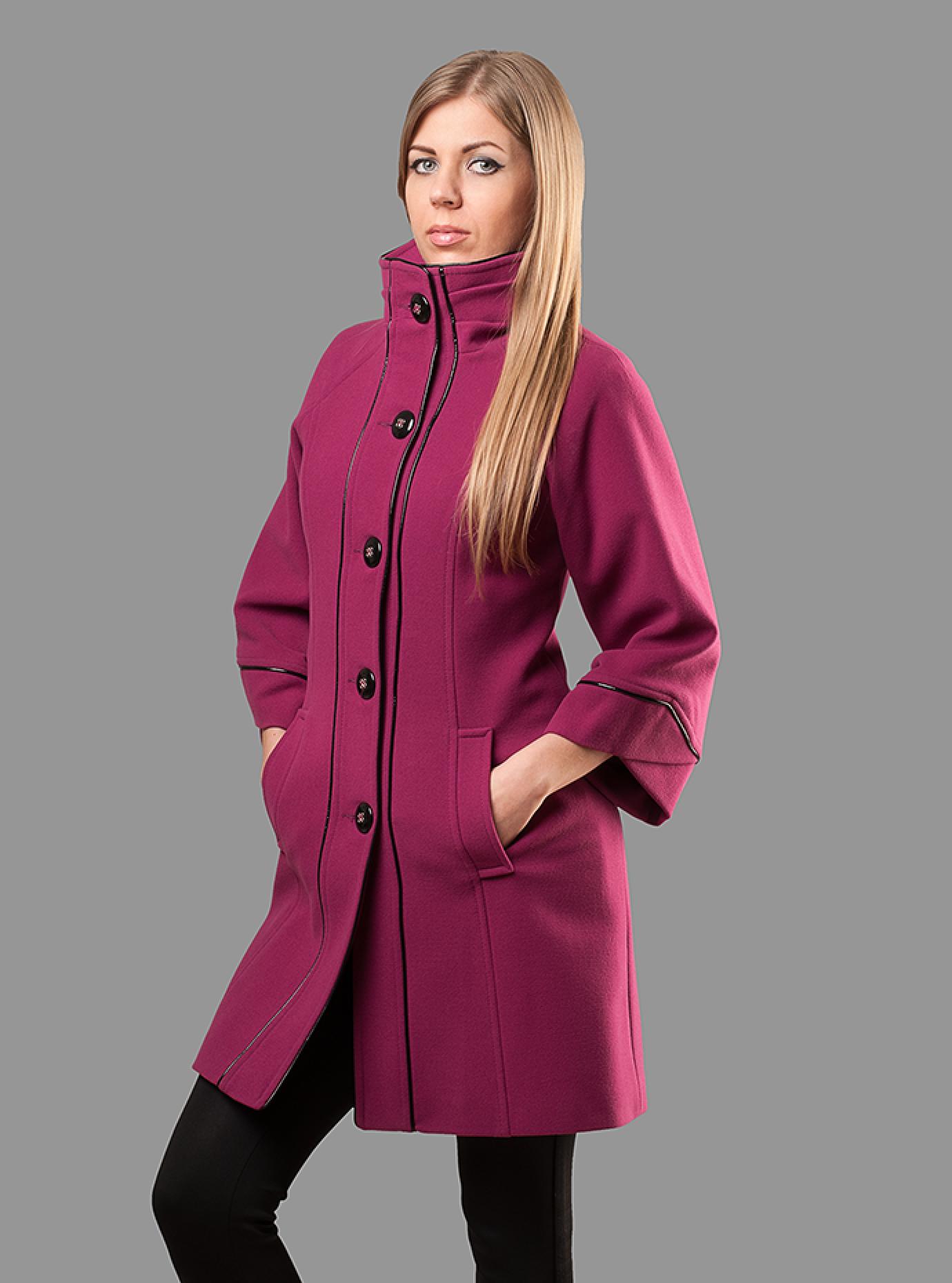 Пальто женское высокий воротник Чёрный S (05-ZZ19112): фото - Alster.ua