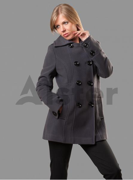 Пальто демисезонное двубортное средней длины