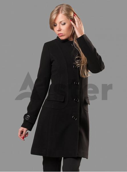 Пальто демисезонное женское на пуговицах