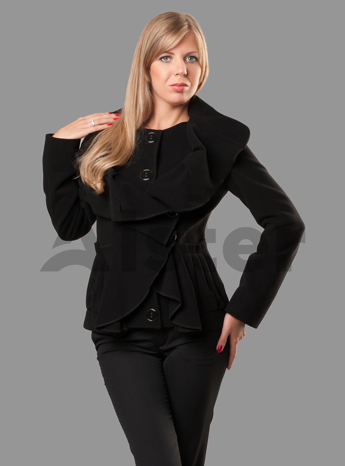 Пальто женское демисезонное стильное Чёрный S (05-ZZ19119): фото - Alster.ua