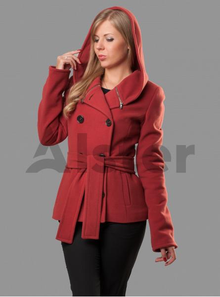 Пальто демисезонное короткое с капюшоном