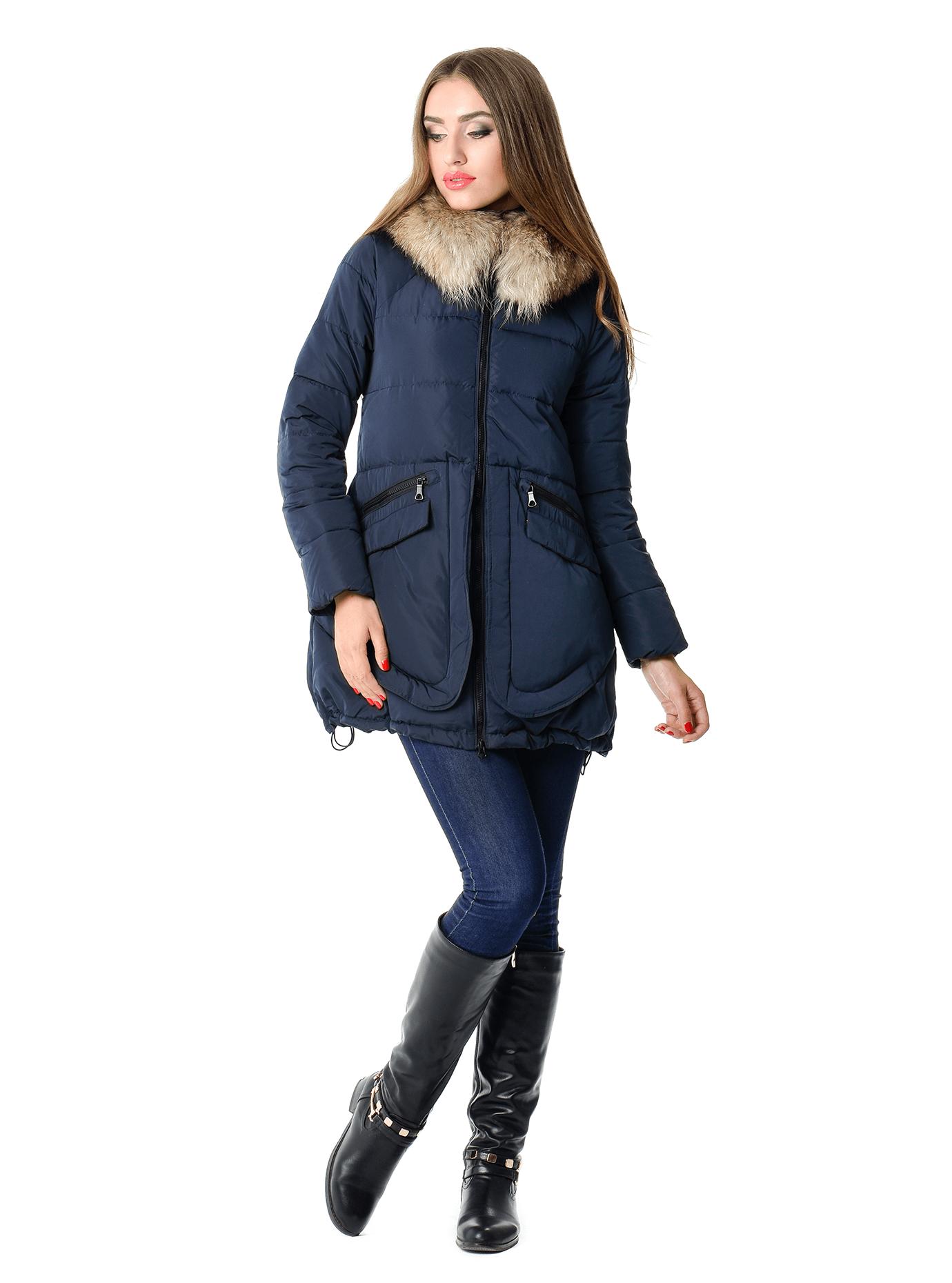 Пуховик женский на зиму Чёрный S (05-CH19105): фото - Alster.ua