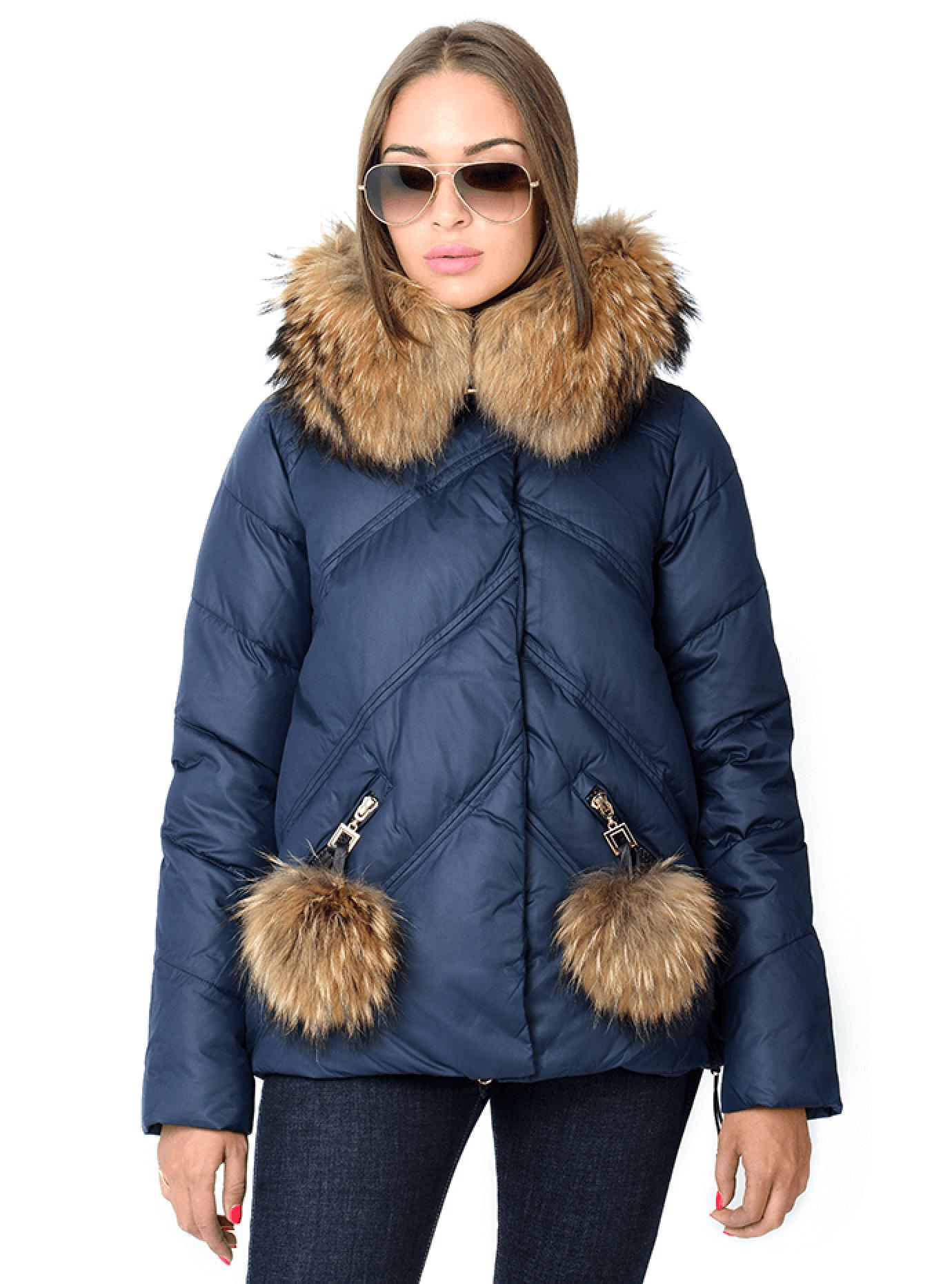 Зимняя куртка женская с мехом Чёрный S (05-CH19104): фото - Alster.ua