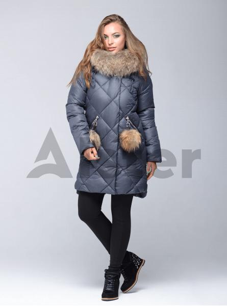 Зимняя куртка женская ромбовидная стёжка