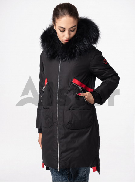 Зимняя куртка женская с мехом енота