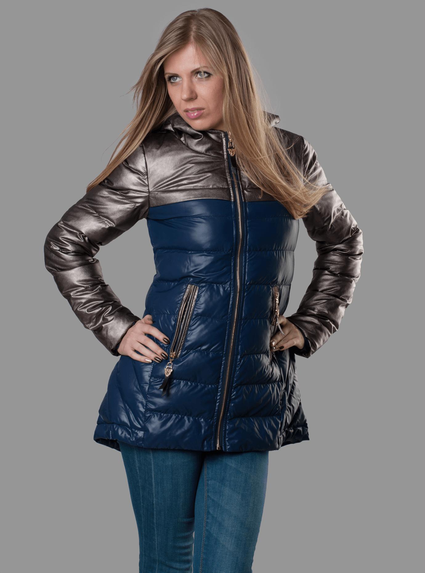 Куртка женская демисезонная со вставками Чёрный S (05-ZZ19137): фото - Alster.ua