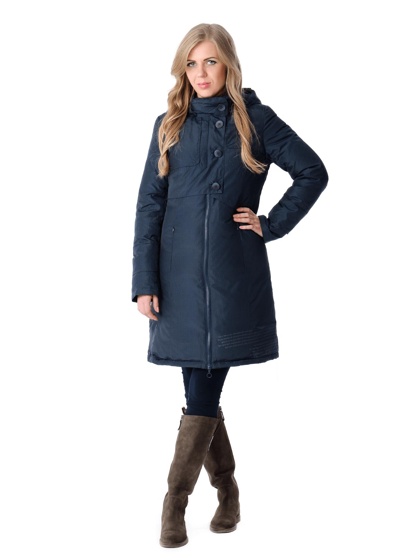 Пуховик женский зимний с капюшоном Тёмно-синий S (03-P19038): фото - Alster.ua