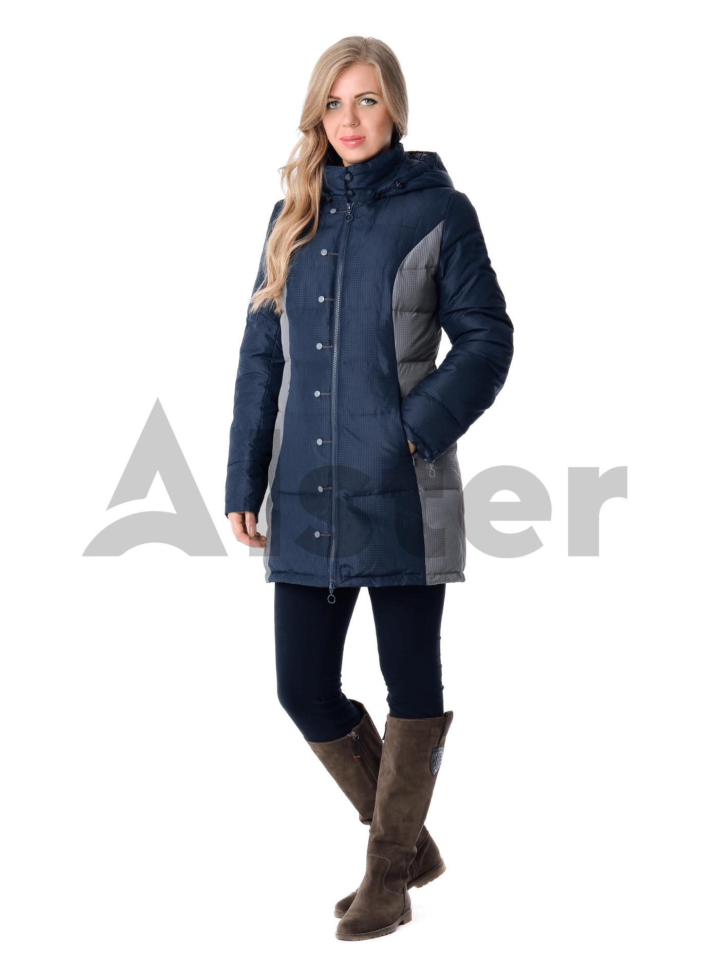 Куртка зимняя средней длины Тёмно-синий S (04-CC19100): фото - Alster.ua