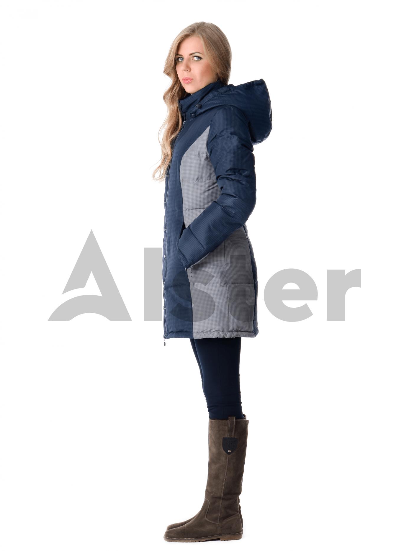 Пуховик зимний приталенный Тёмно-синий L (04-CC19079): фото - Alster.ua