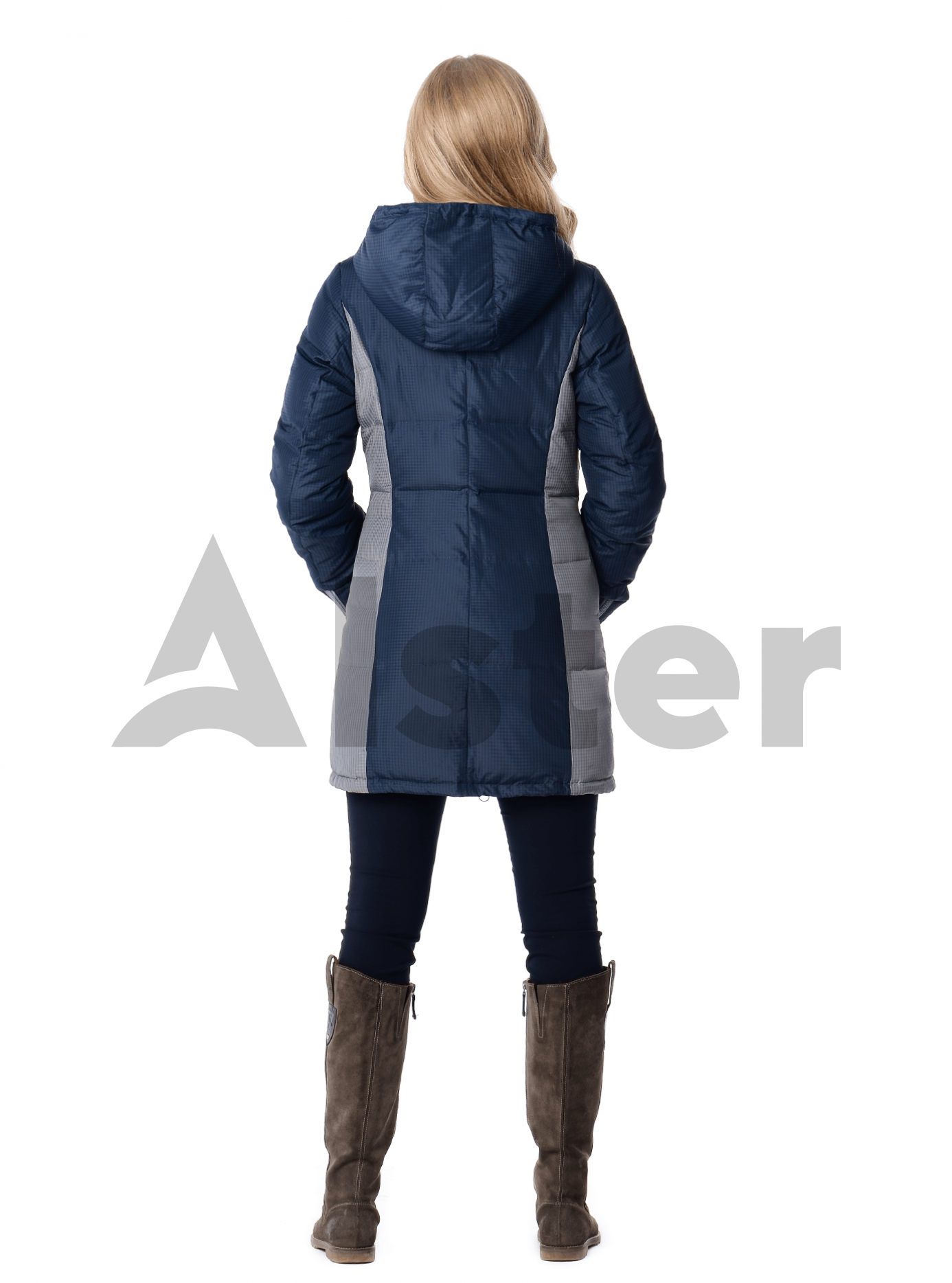 Куртка зимняя средней длины Тёмно-синий S (04-CC19092): фото - Alster.ua