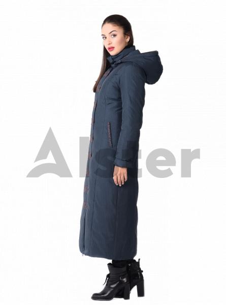 Пуховик зимний длинный с капюшоном