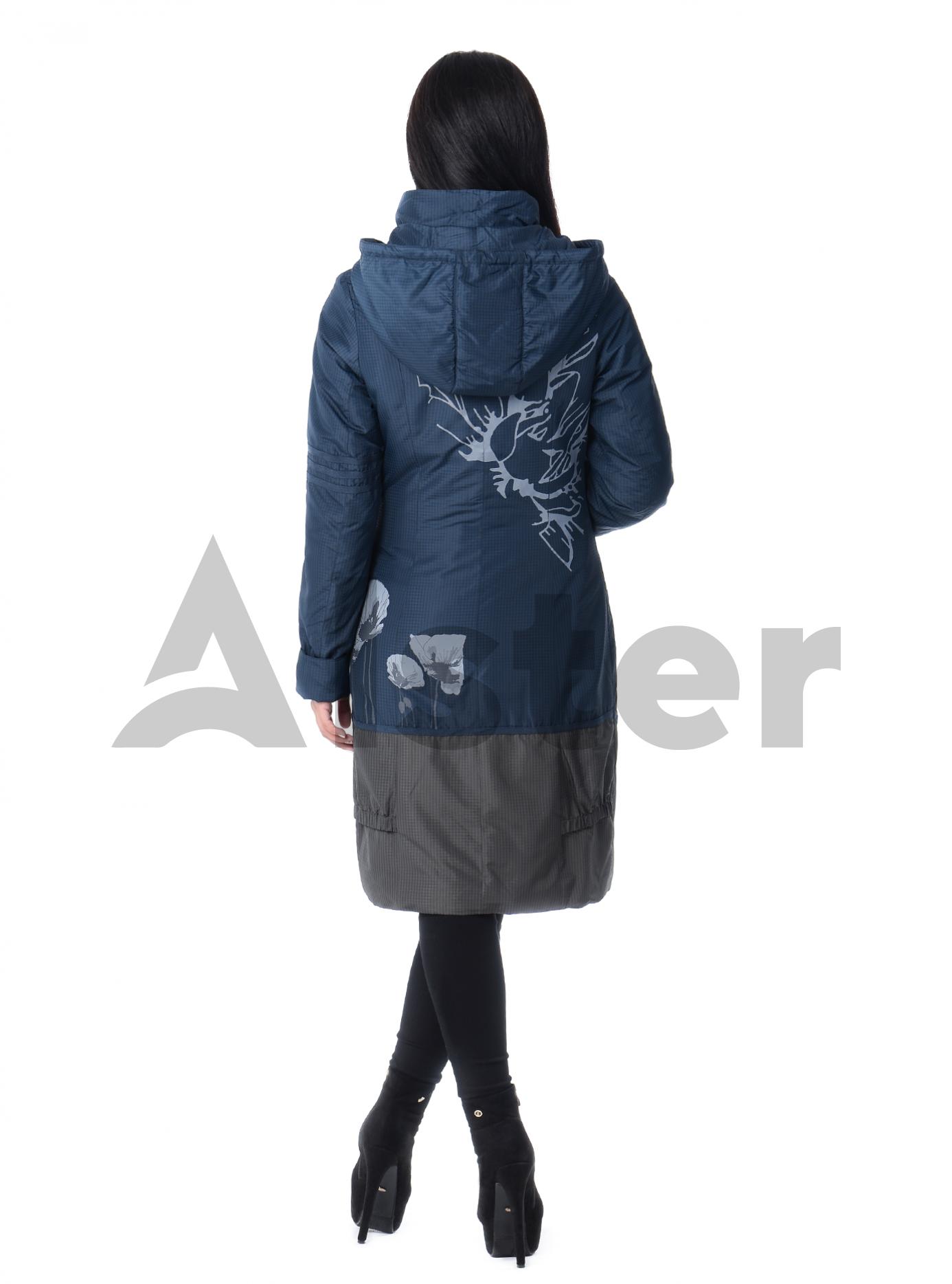 Плащ демисезонный со съемным капюшоном Тёмно-синий S (03-P19005): фото - Alster.ua