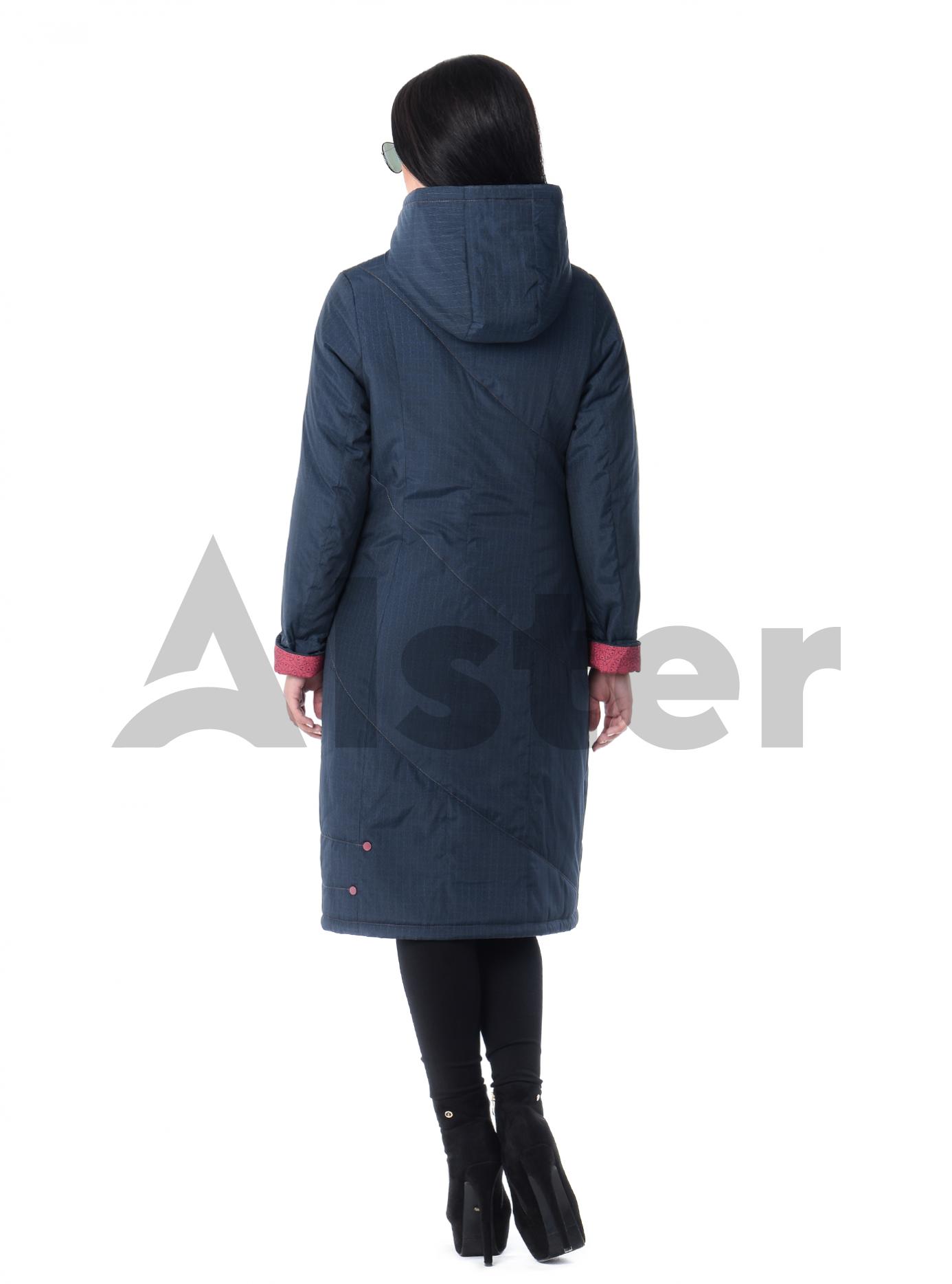 Плащ демисезонный длинный приталенный Тёмно-синий 4XL (03-P19034): фото - Alster.ua