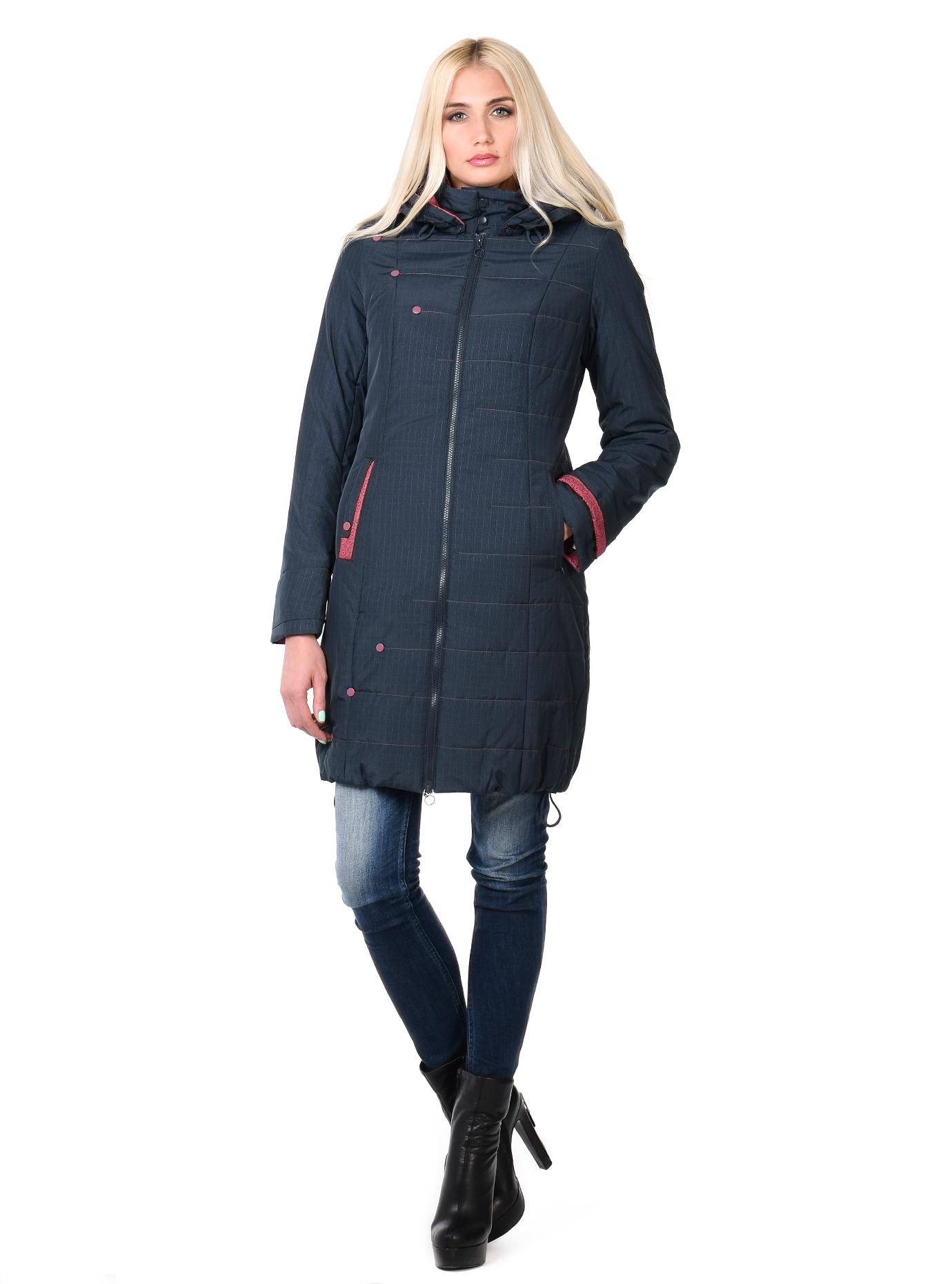 Куртка демисезонная на молнии Тёмно-синий S (03-P19032): фото - Alster.ua
