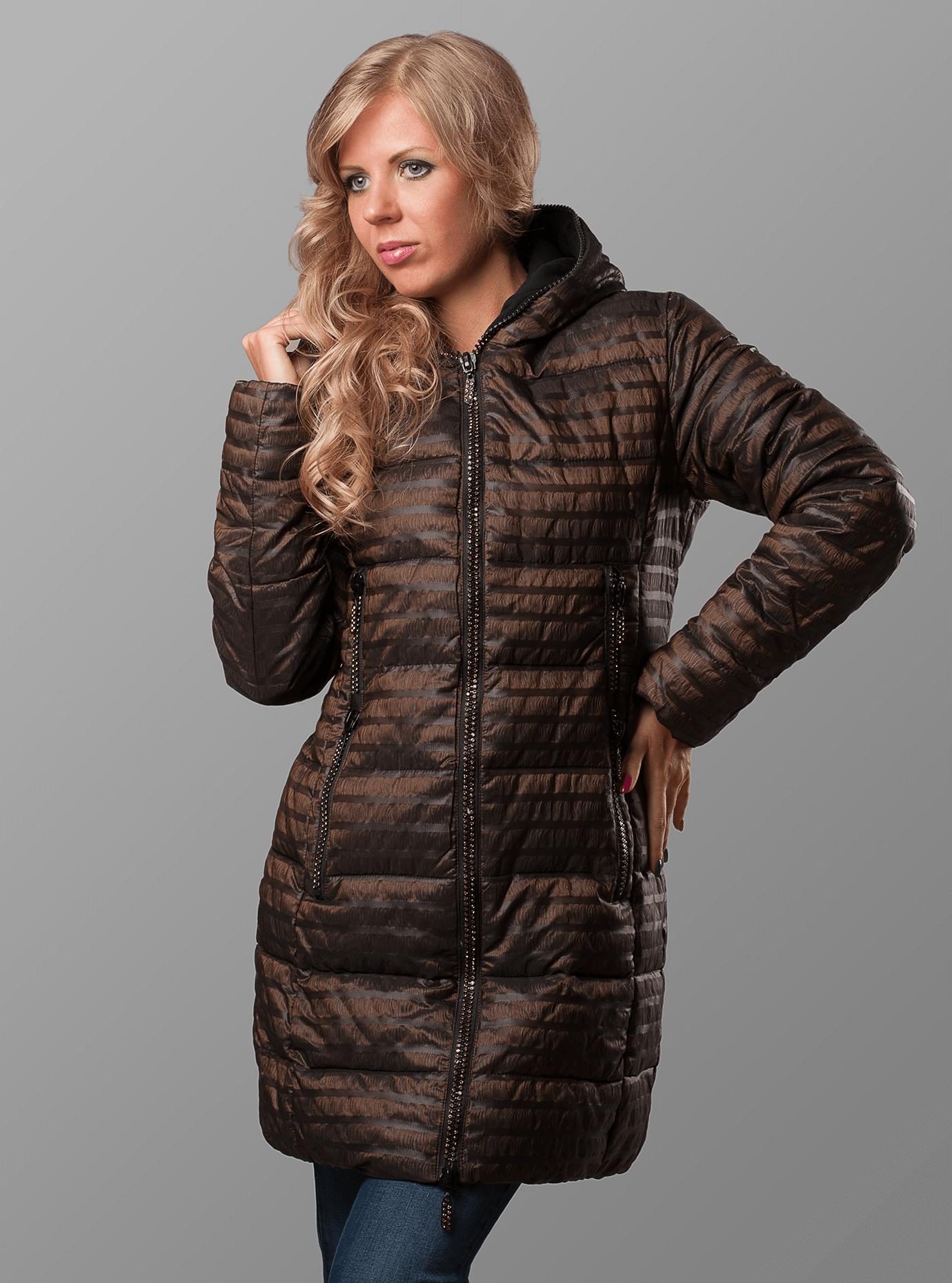 Куртка зимняя женская Коричневый S (01-RR16010): фото - Alster.ua