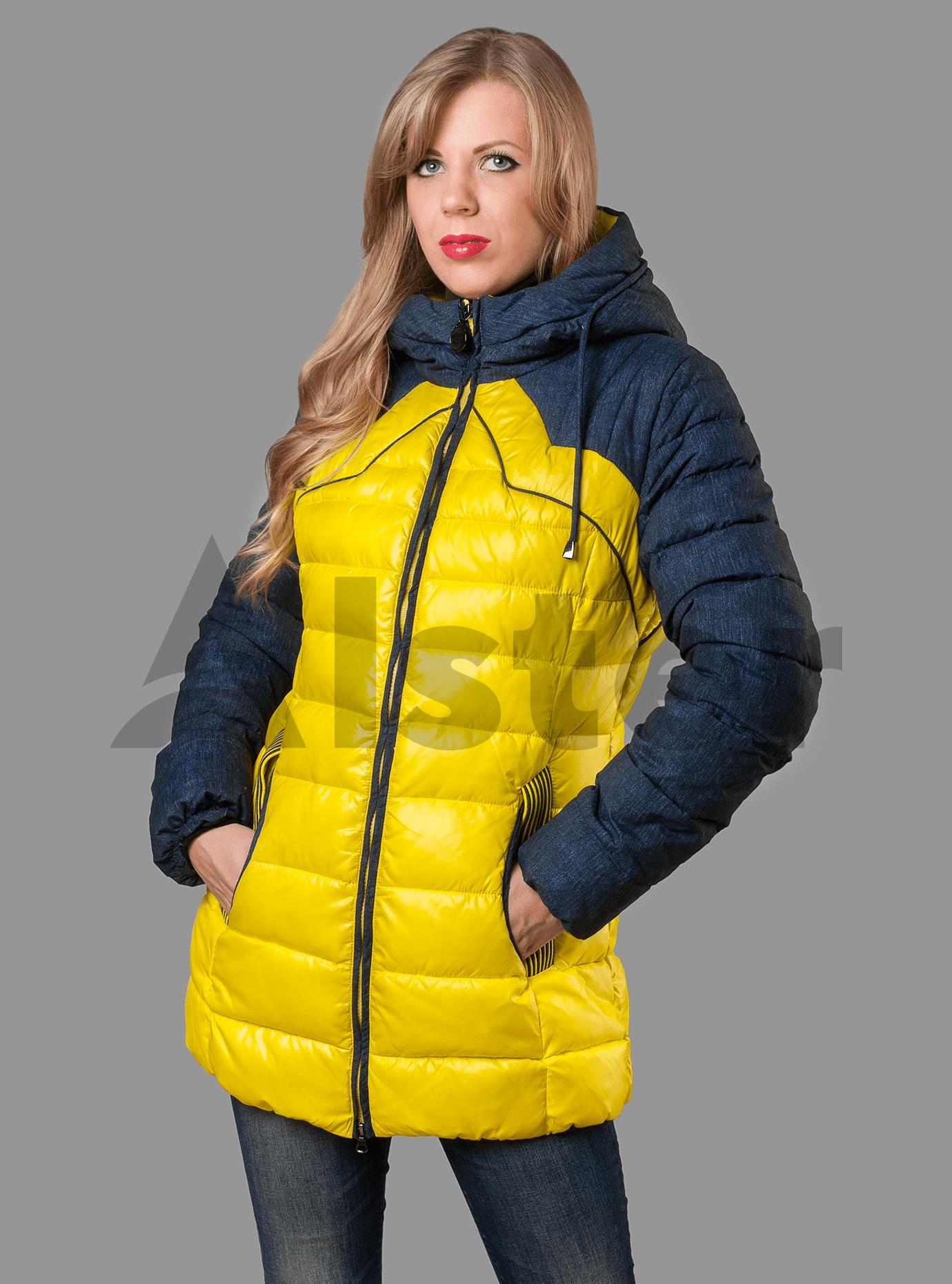 Куртка зимняя женская Жёлтый S (01-RR16013): фото - Alster.ua