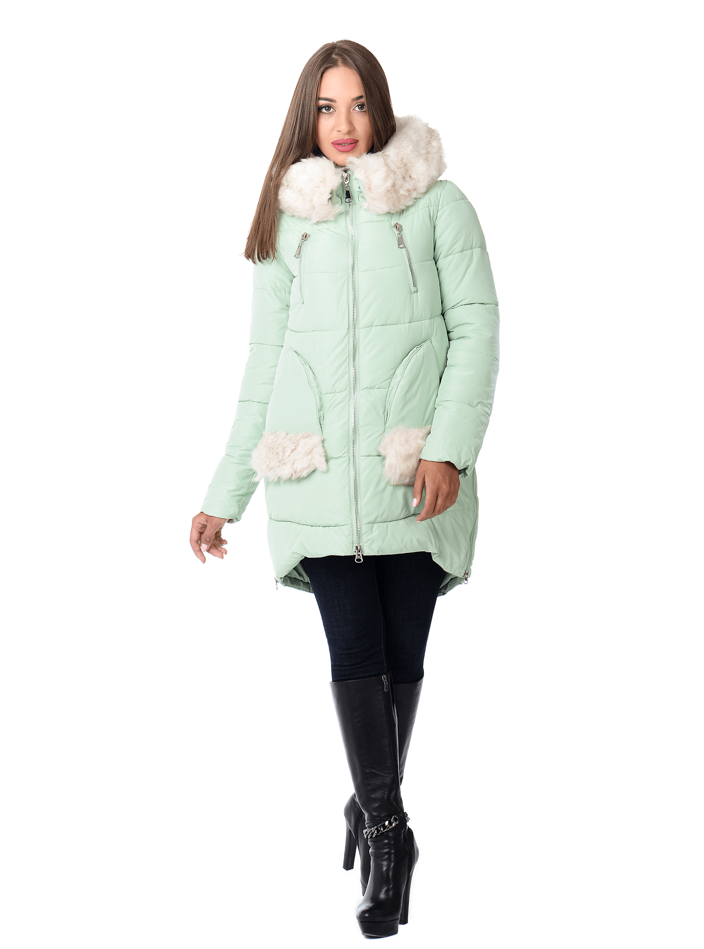 Куртка зимняя женская Синий S (01-RR16009): фото - Alster.ua