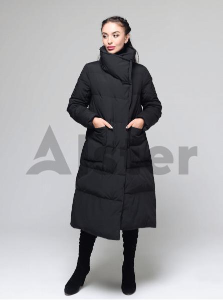 Пуховик женский зимний горизонтальная стёжка