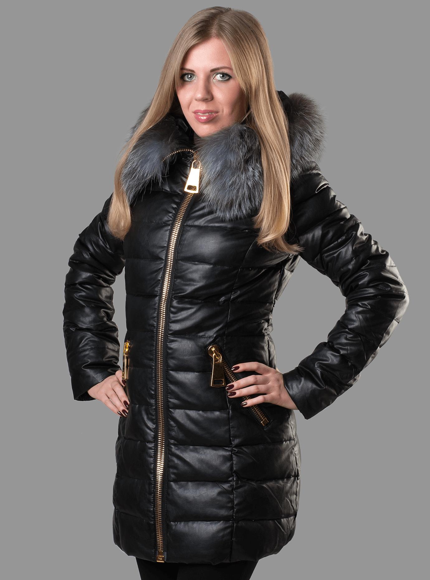 Пуховик зимний женский Чёрный S (01-RR16019): фото - Alster.ua