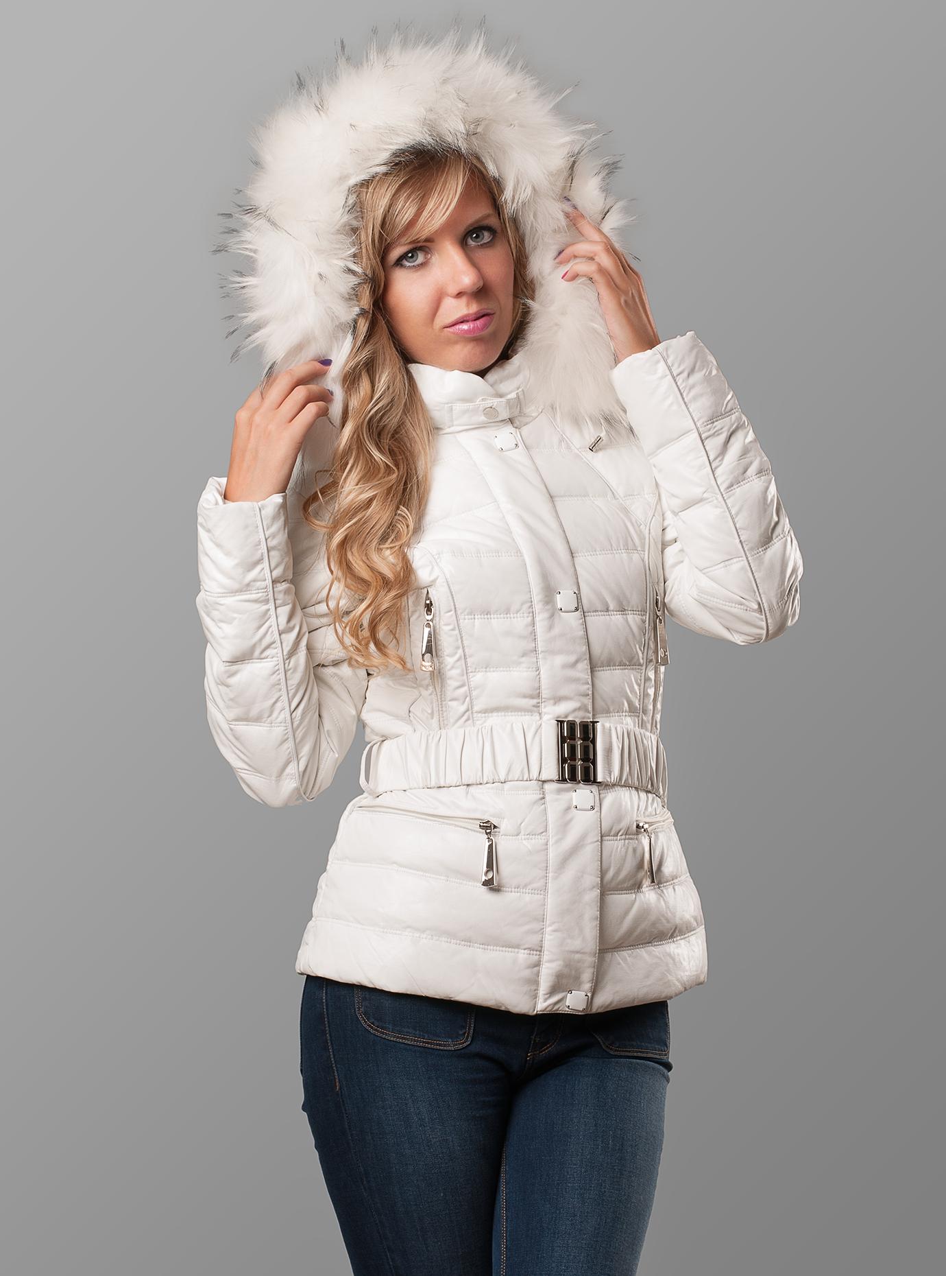 Пуховик зимний женский Белый S (01-RR16068): фото - Alster.ua