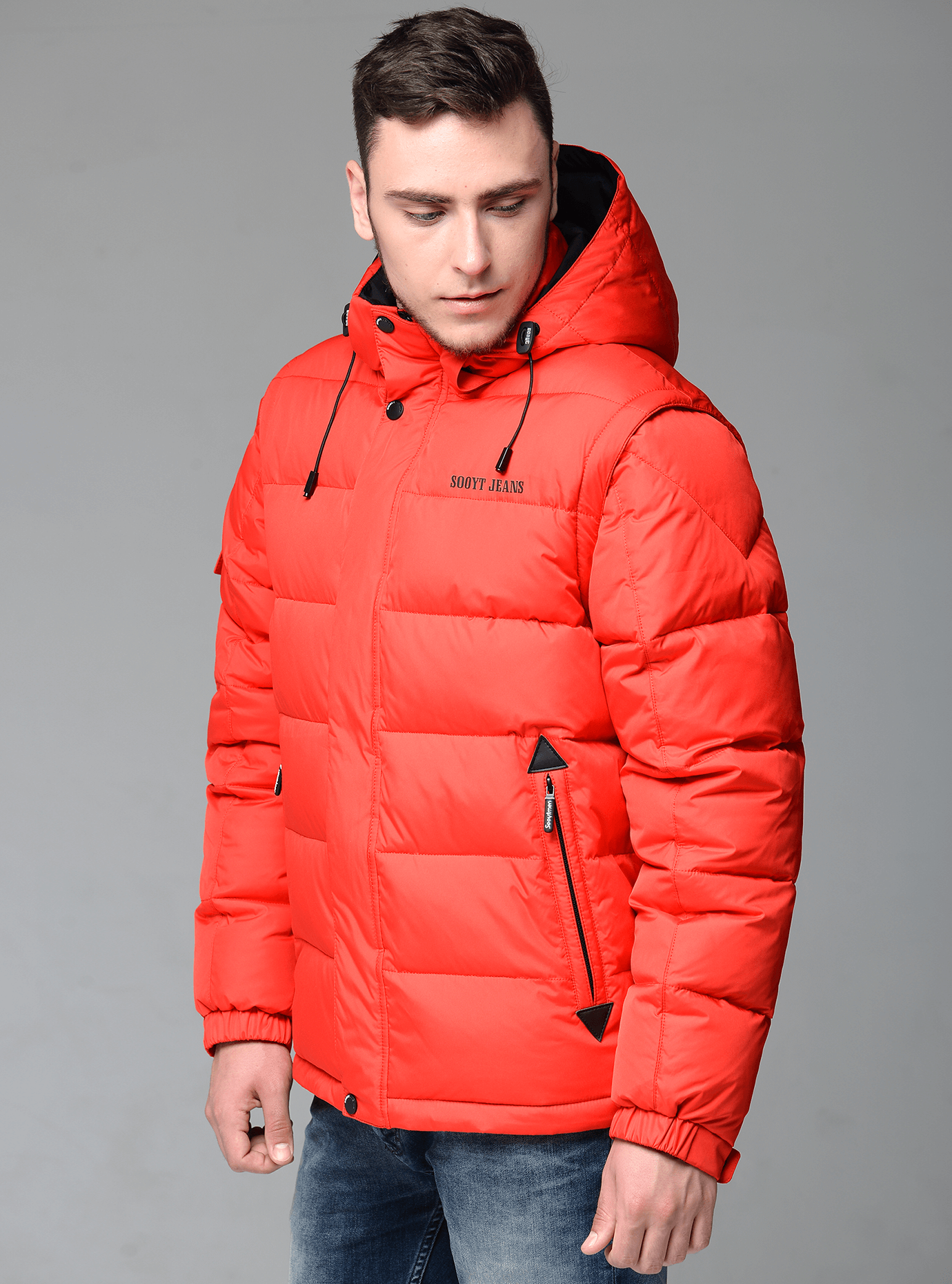 Мужская куртка зимняя яркая Красный 46 (02-MS1901214): фото - Alster.ua