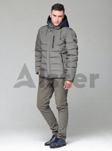 Чоловіча куртка зимова кишені на блискавці
