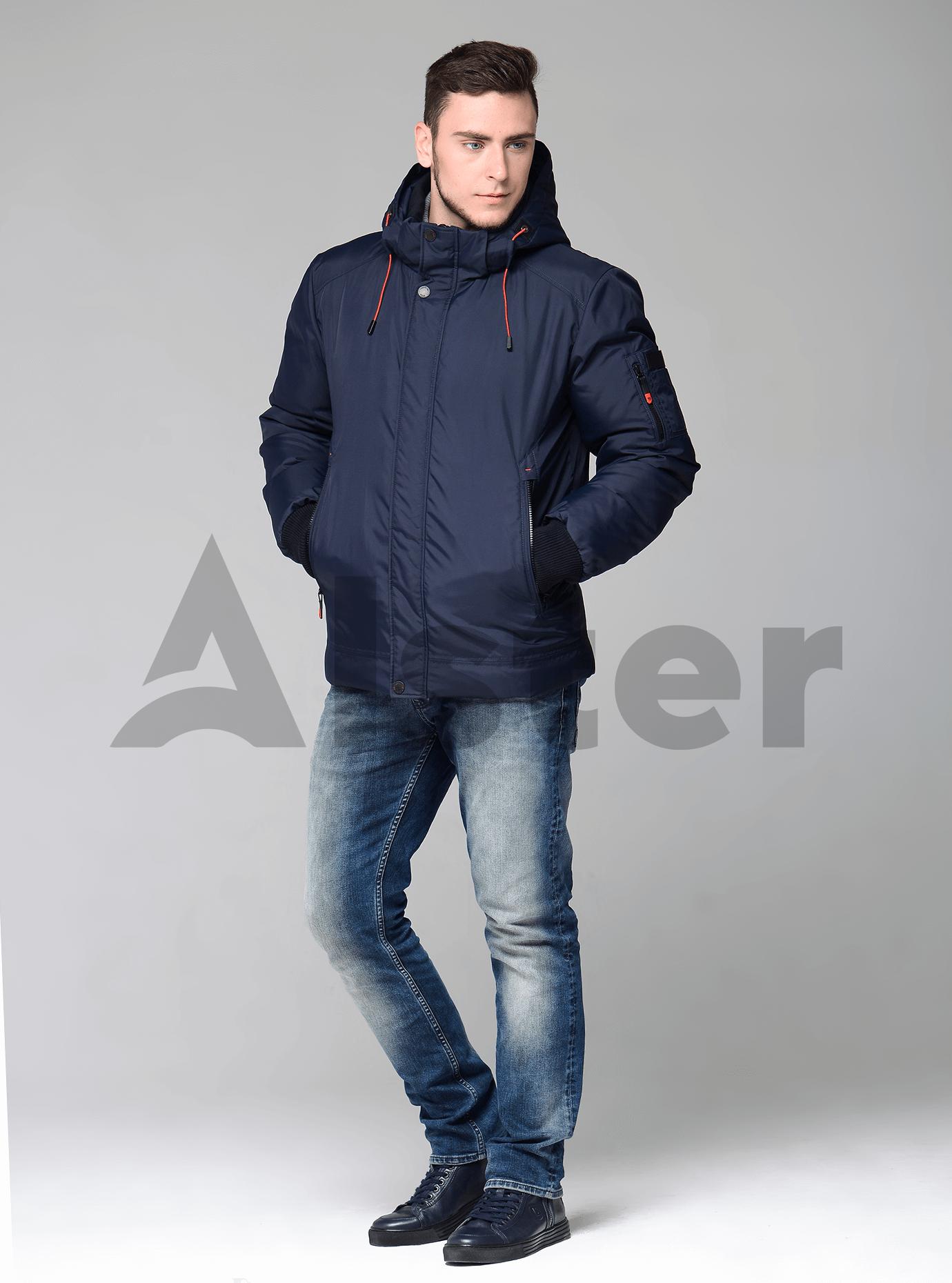 Мужская куртка зимняя с манжетами Синий 56 (02-MS1901220): фото - Alster.ua