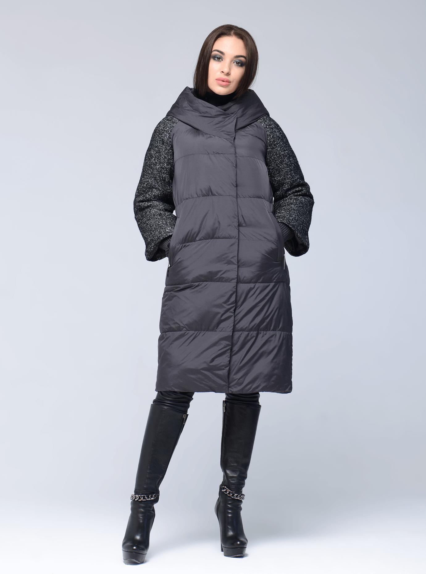 Куртка женская зимняя с манжетами Графитовый S (05-AB9050): фото - Alster.ua