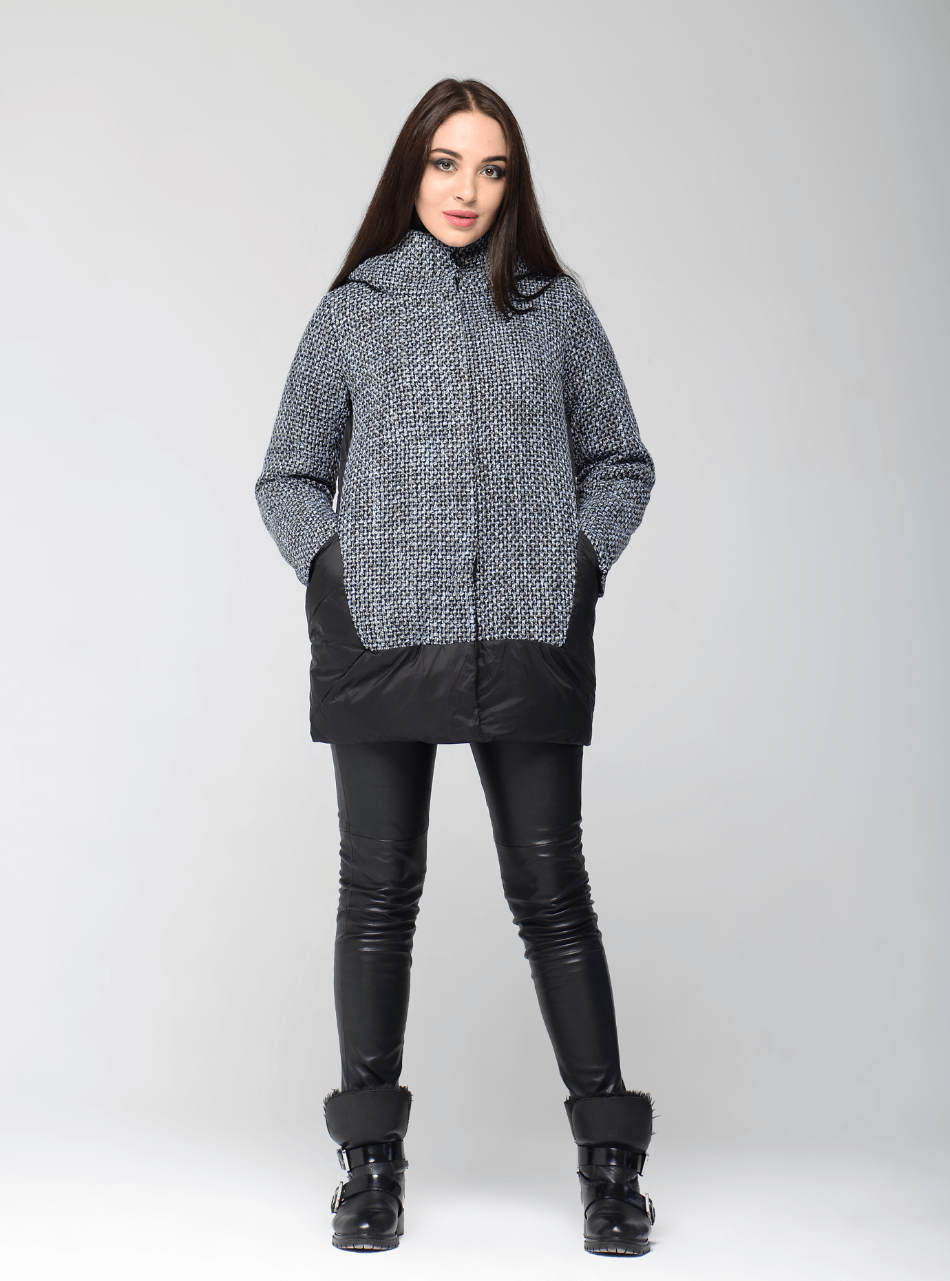 Куртка женская зимняя стильная Чёрный S (05-AB9033): фото - Alster.ua