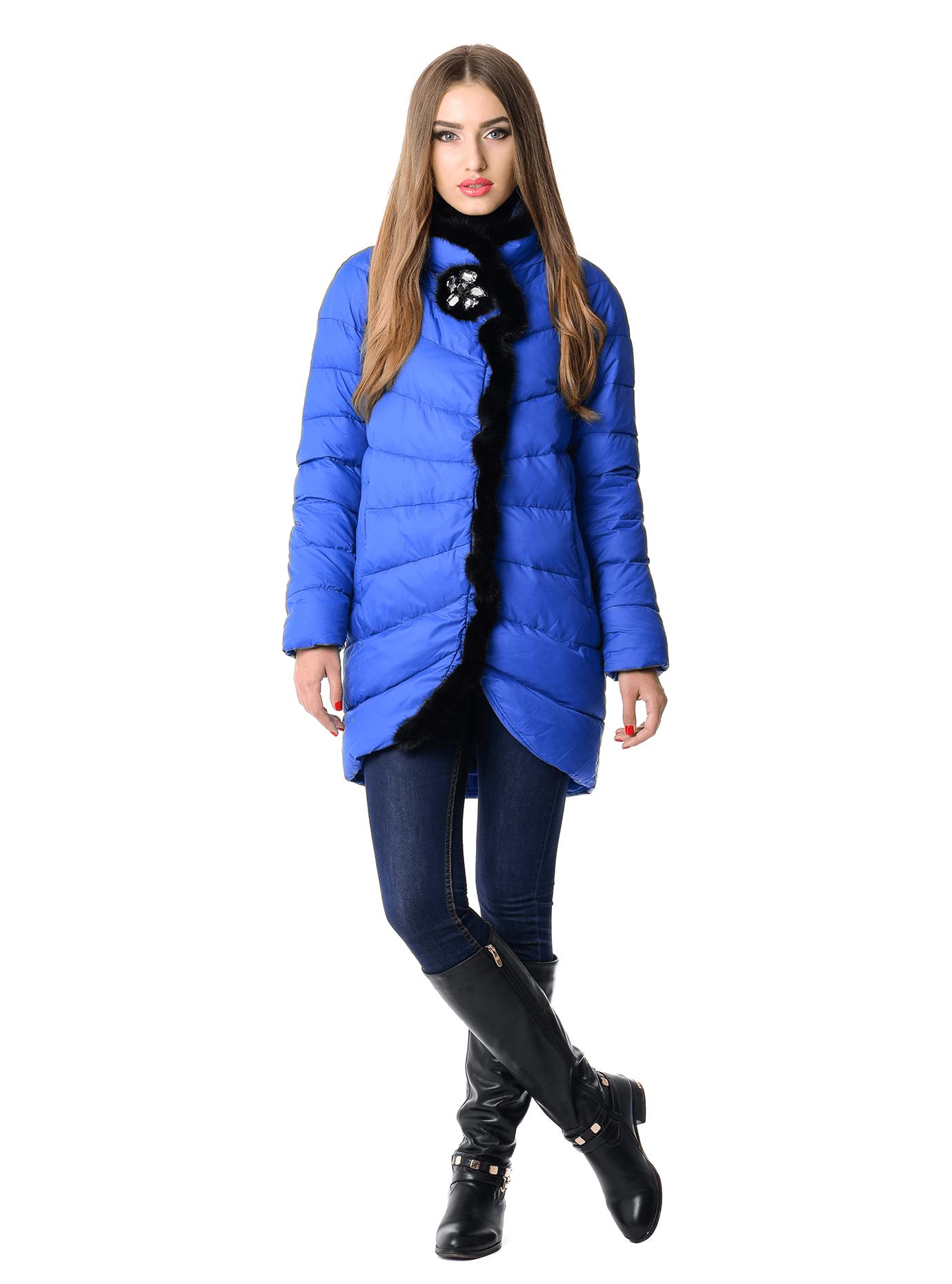 Куртка женская зимняя с мехом норки Чёрный S (05-AB9104): фото - Alster.ua