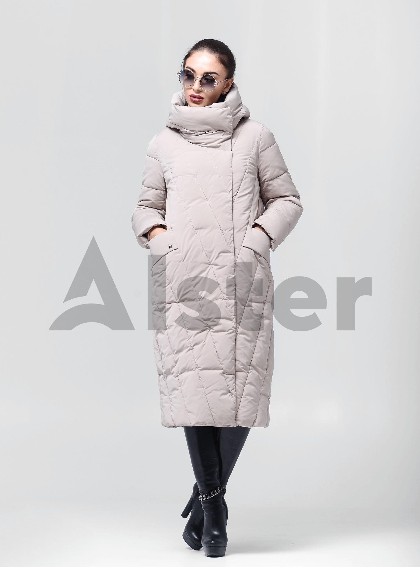 Пальто зимове довге Світло-сірий 46 (02-BF19165): фото - Alster.ua