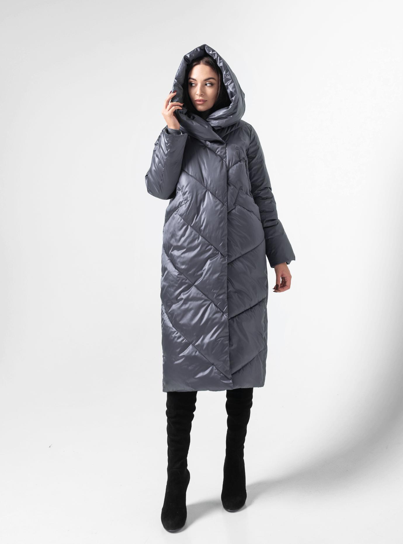 Куртка зимова стьобана Сіро-синій 52 (02-BF19035): фото - Alster.ua